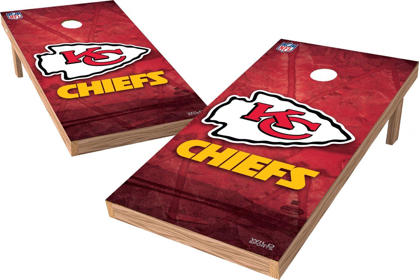 Wild Sports 2' x 4' Kansas City Chiefs XL Tailgate Bean Bag Toss Shields