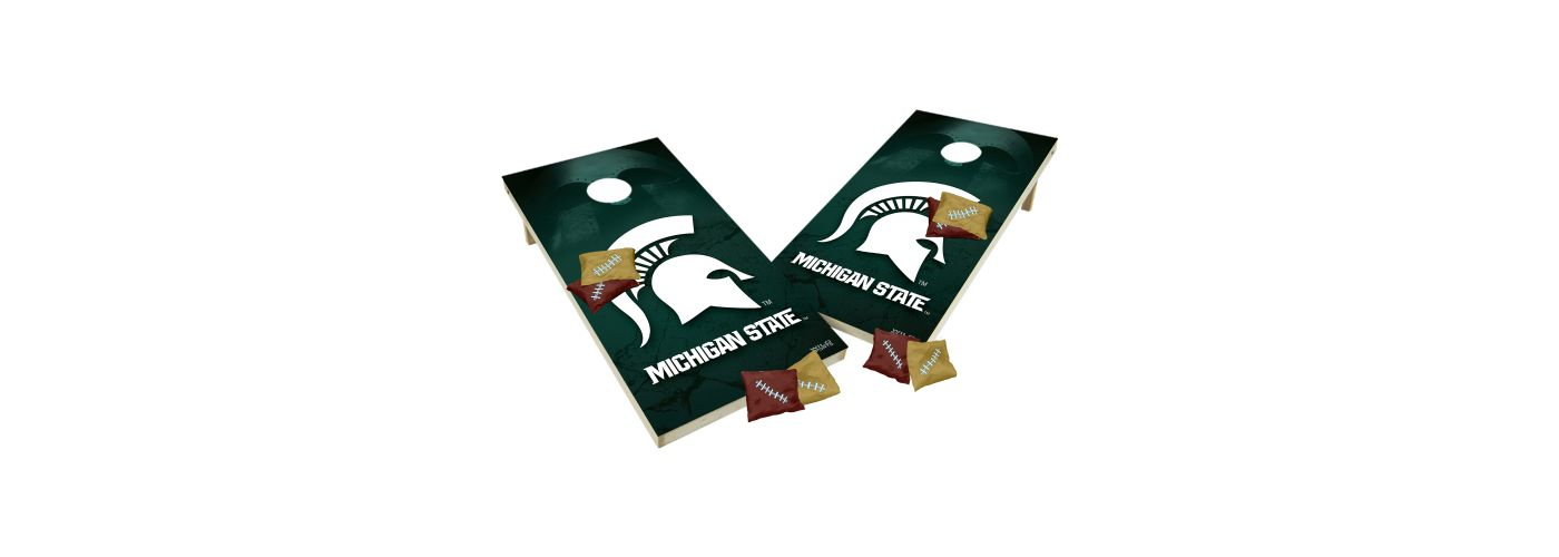Wild Sports 2' x 4' Michigan State Spartans XL Tailgate Bean Bag Toss Shields