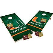 Wild Sports 2' x 4' Miami Hurricanes XL Tailgate Bean Bag Toss Shields