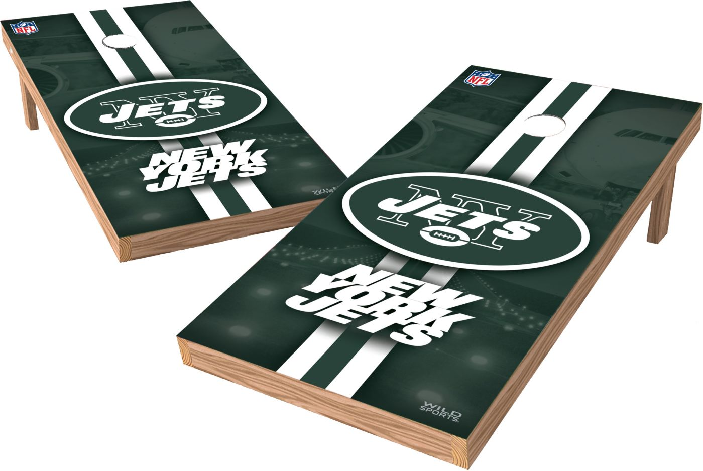 Wild Sports 2' x 4' New York Jets XL Tailgate Bean Bag Toss Shields