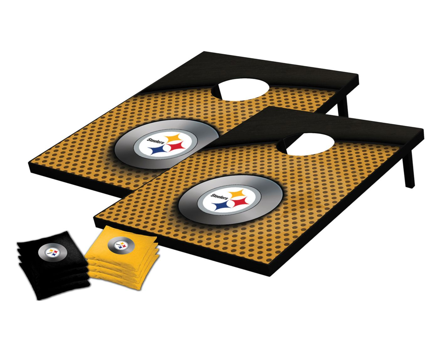 Wild Sports 2' x 3' Pittsburgh Steelers Tailgate Toss Cornhole Set
