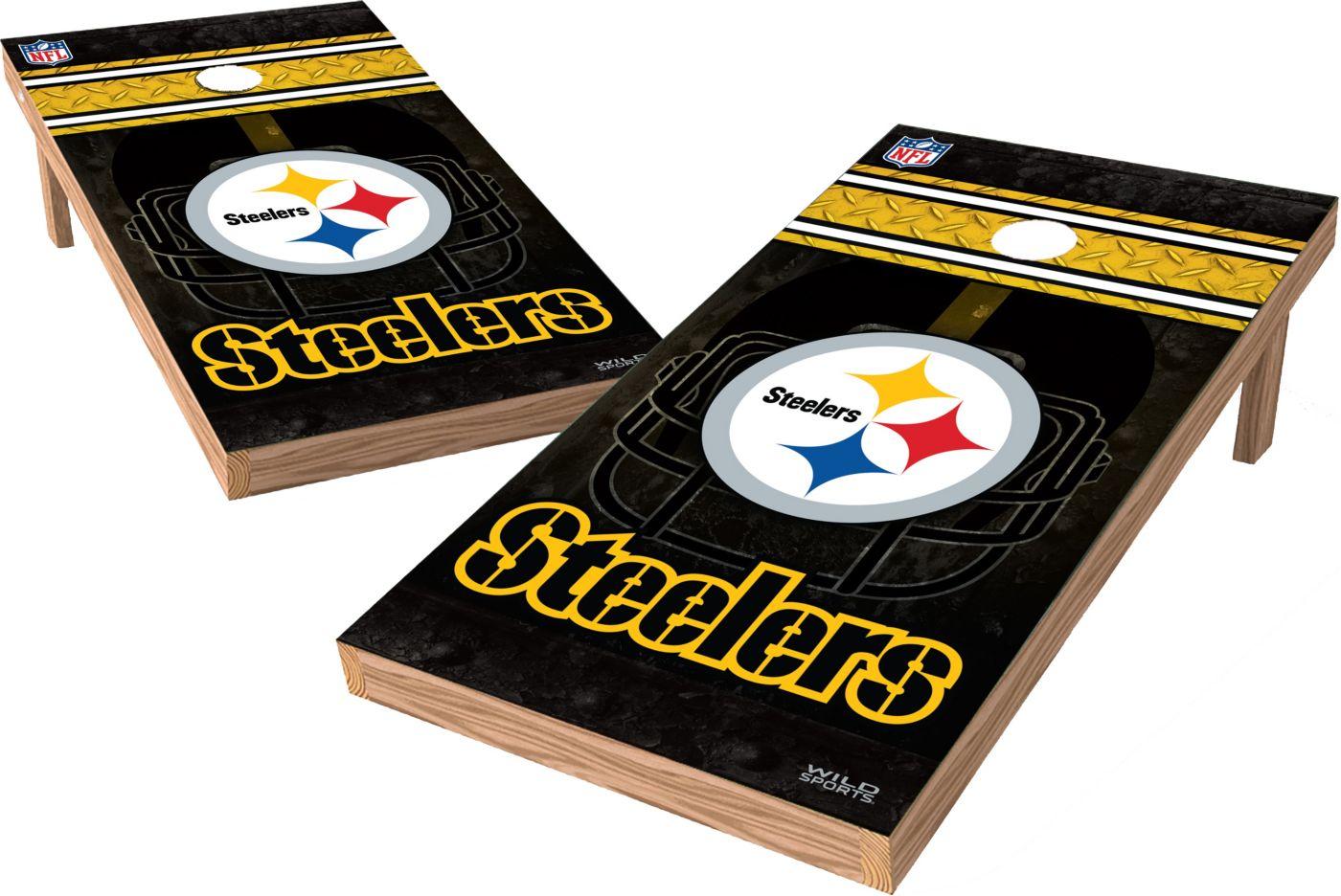 Wild Sports Pittsburgh Steelers XL Tailgate Bean Bag Toss Shields