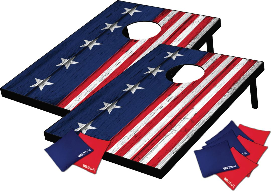 Remarkable Wild Sports Stars And Stripes Cornhole Tailgate Toss Ibusinesslaw Wood Chair Design Ideas Ibusinesslaworg