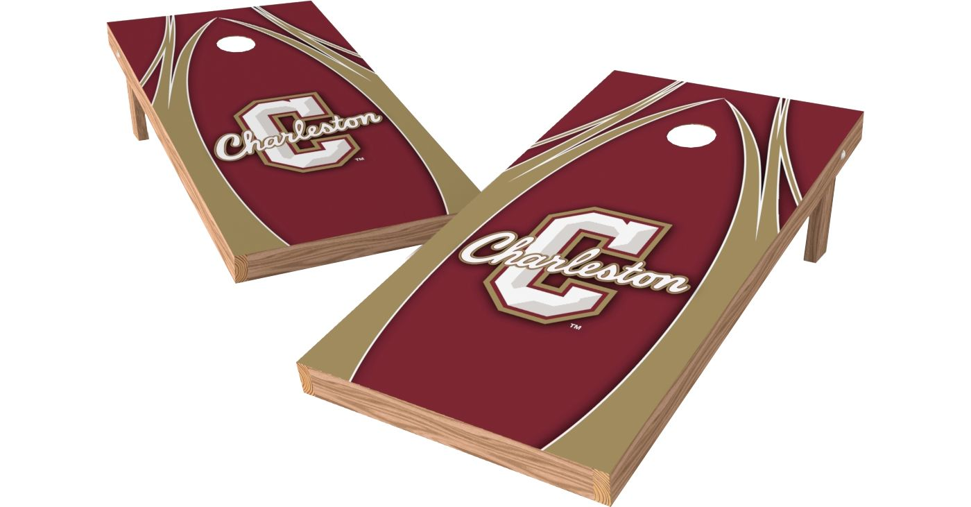Wild Sports 2' x 4' College of Charleston Cougars XL Tailgate Bean Bag Toss Shields
