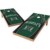 Wild Sports 2' x 4' Hawai'i Warriors XL Tailgate Bean Bag Toss Shields