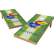 Wild Sports 2' x 4' Kansas Jayhawks XL Tailgate Bean Bag Toss Shields