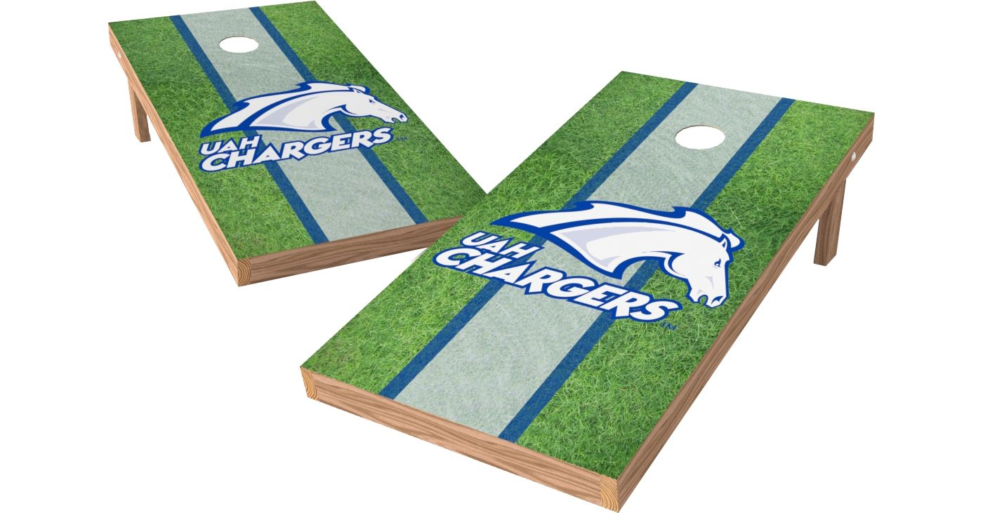 Wild Sports 2' x 4' Alabama-Huntsville Chargers XL Tailgate Bean Bag Toss Shields