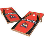 Wild Sports 2' x 4' Miami Marlins XL Tailgate Bean Bag Toss Shields