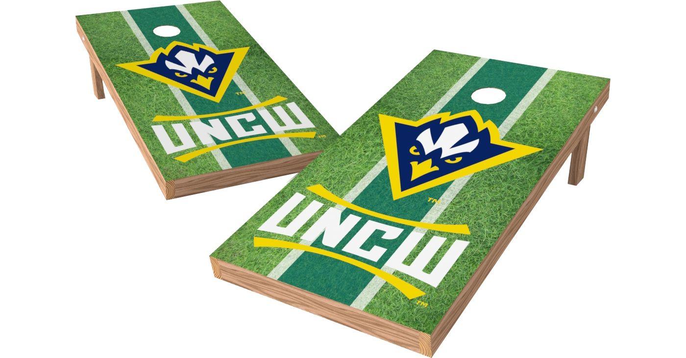 Wild Sports 2' x 4' UNC-Wilmington Seahawks XL Tailgate Bean Bag Toss Shields