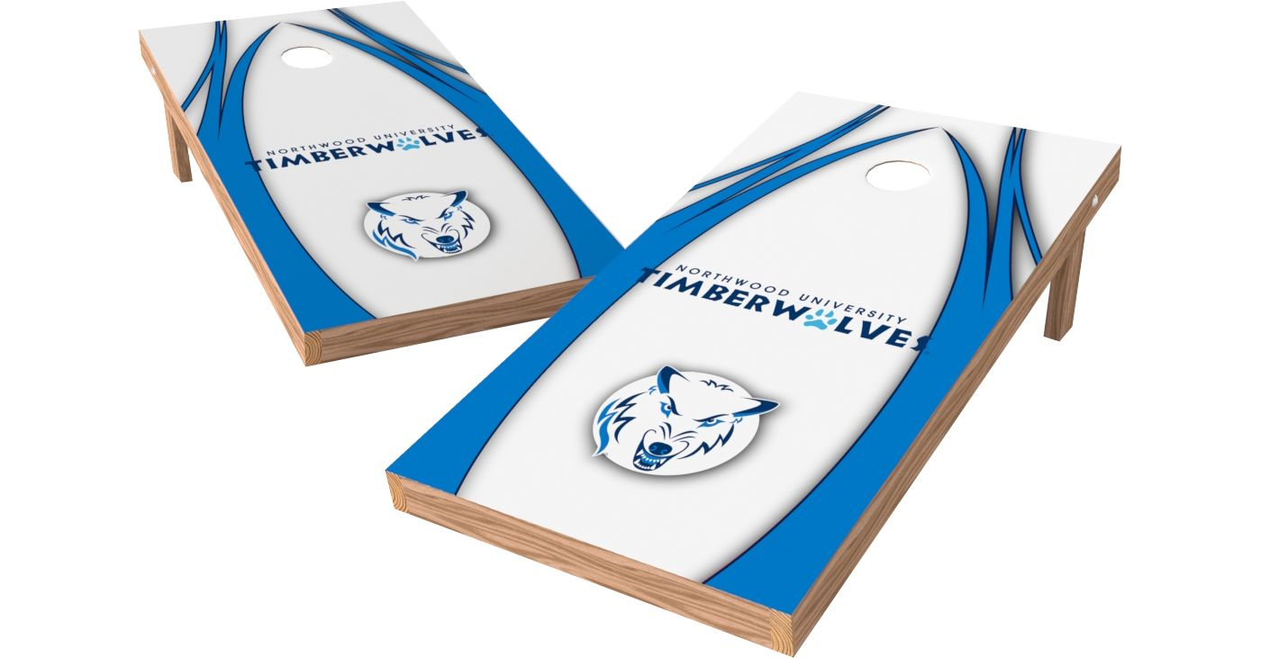 Wild Sports 2' x 4' Northwood Timberwolves XL Tailgate Bean Bag Toss Shields