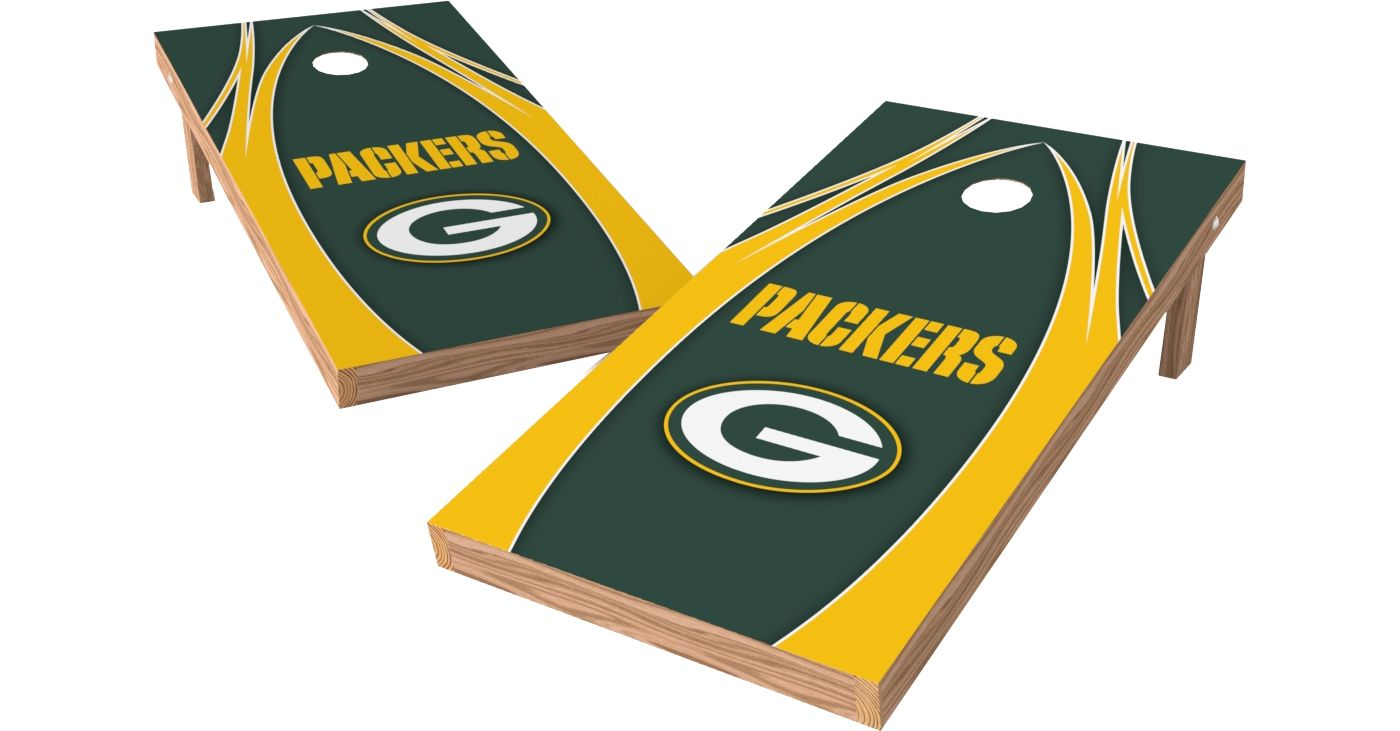 Wild Sports 2' x 4' Green Bay Packers XL Tailgate Bean Bag Toss Shields