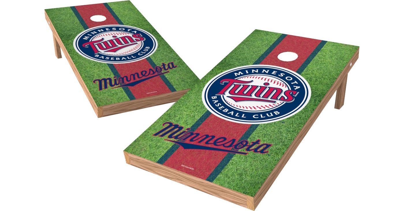 Wild Sports 2' x 4' Minnesota Twins XL Tailgate Bean Bag Toss Shields