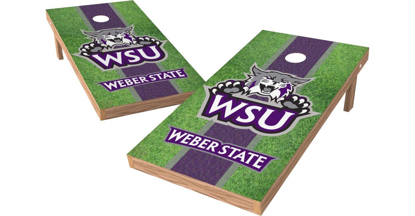 Wild Sports 2' x 4' Weber State Wildcats XL Tailgate Bean Bag Toss Shields