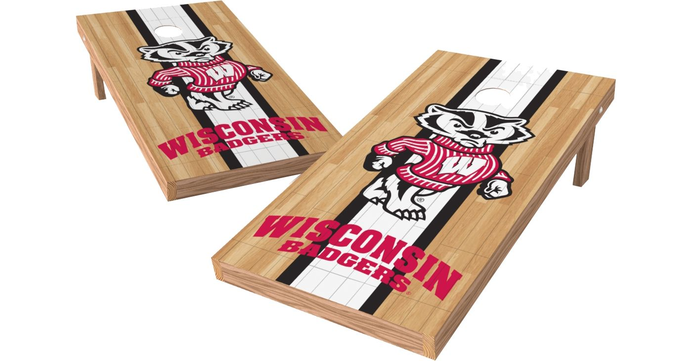 Wild Sports 2' x 4' Wisconsin Badgers XL Tailgate Bean Bag Toss Shields