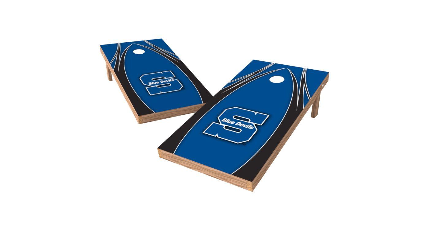 Wild Sports 2' x 4' Wisconsin Stout Blue Devils XL Tailgate Bean Bag Toss Shields