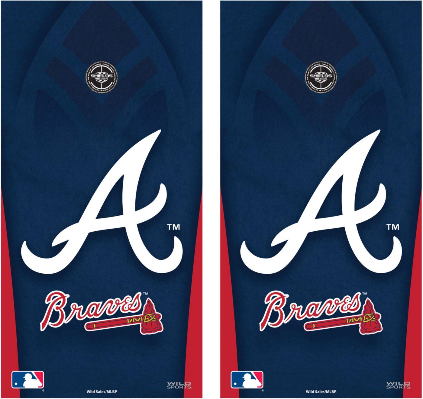 Wild Sports 2' x 4'  Atlanta Braves Tailgate Bean Bag Toss Shields