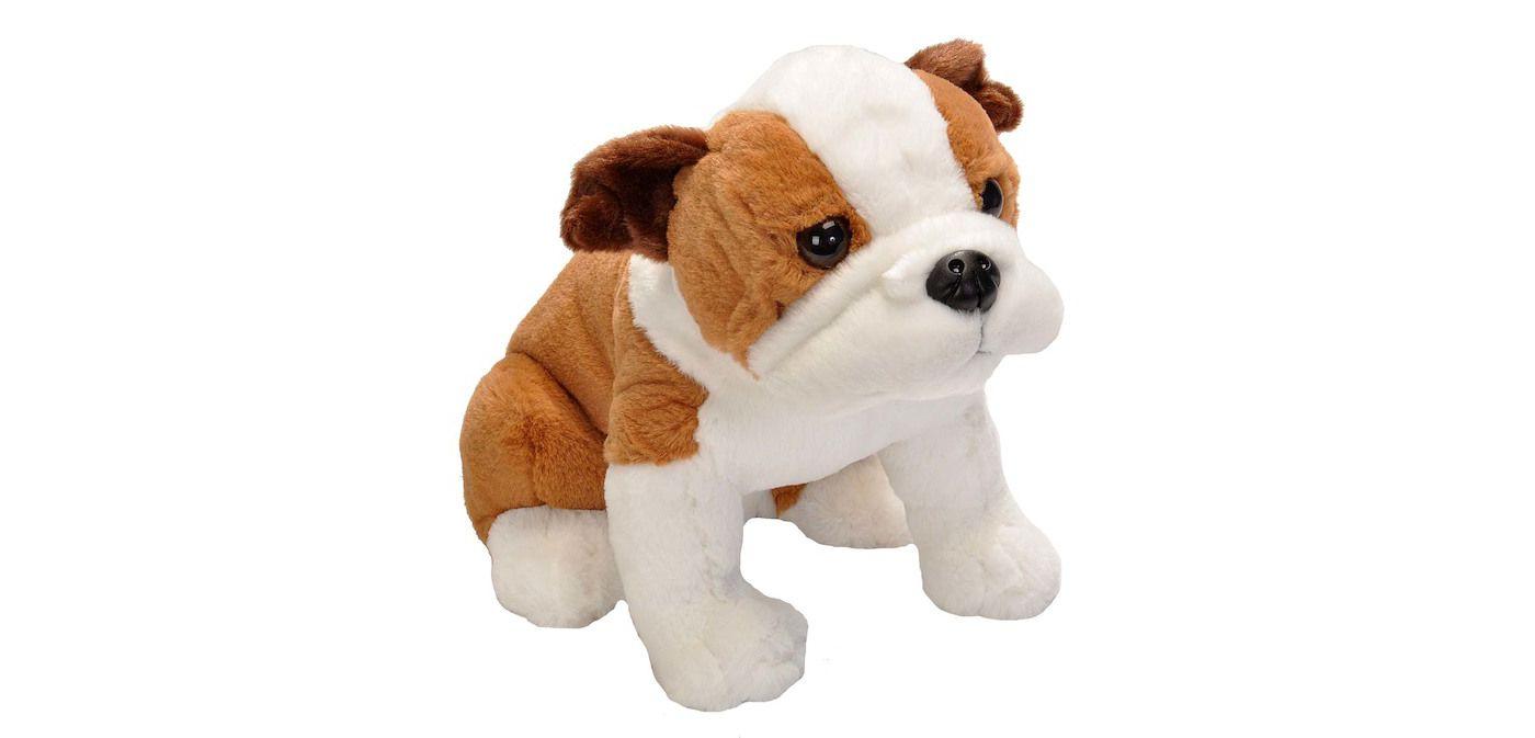 Wild Republic Sitting Bulldog Stuffed Animal