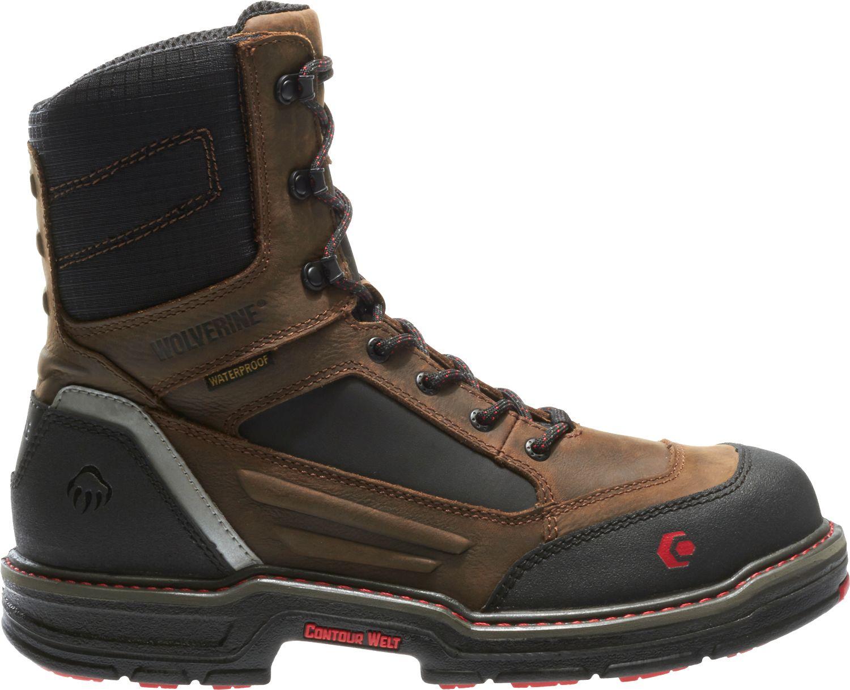 "519dc256fa2 Wolverine Men's Overman Waterproof CarbonMax 8"" EH Work Boots"