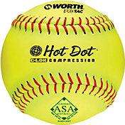 "Worth 12"" ASA Hot Dot Slow Pitch Softball"