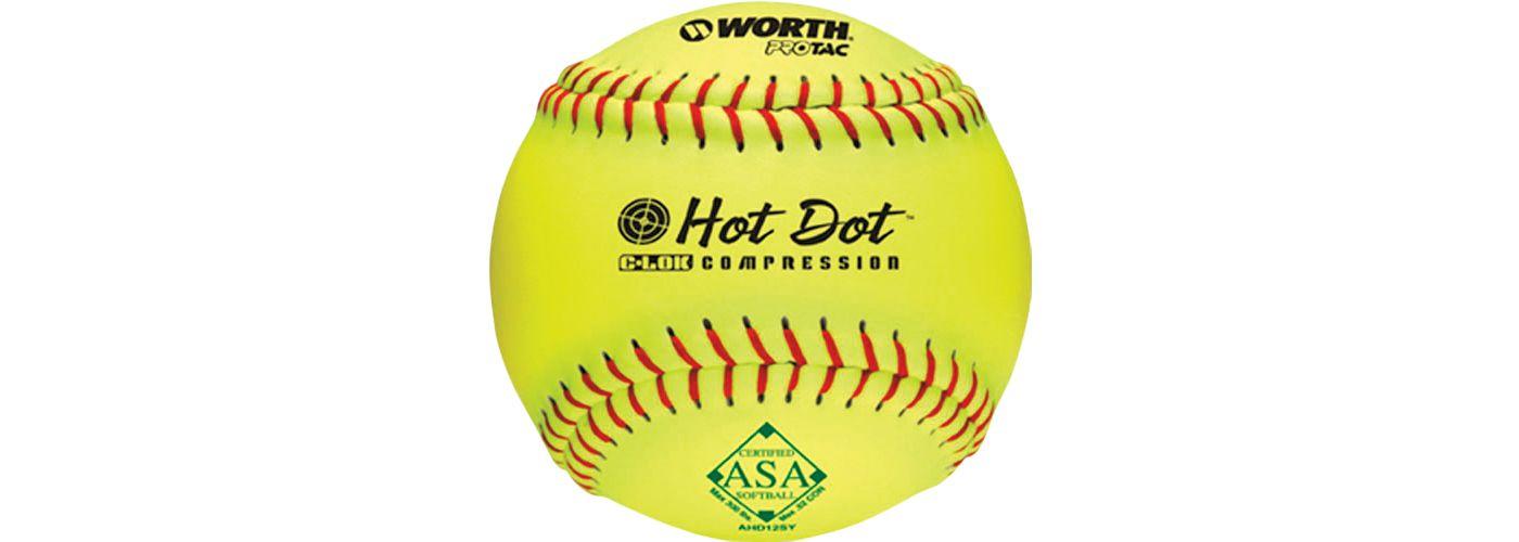 """Worth 12"""" ASA Hot Dot Slow Pitch Softball"""