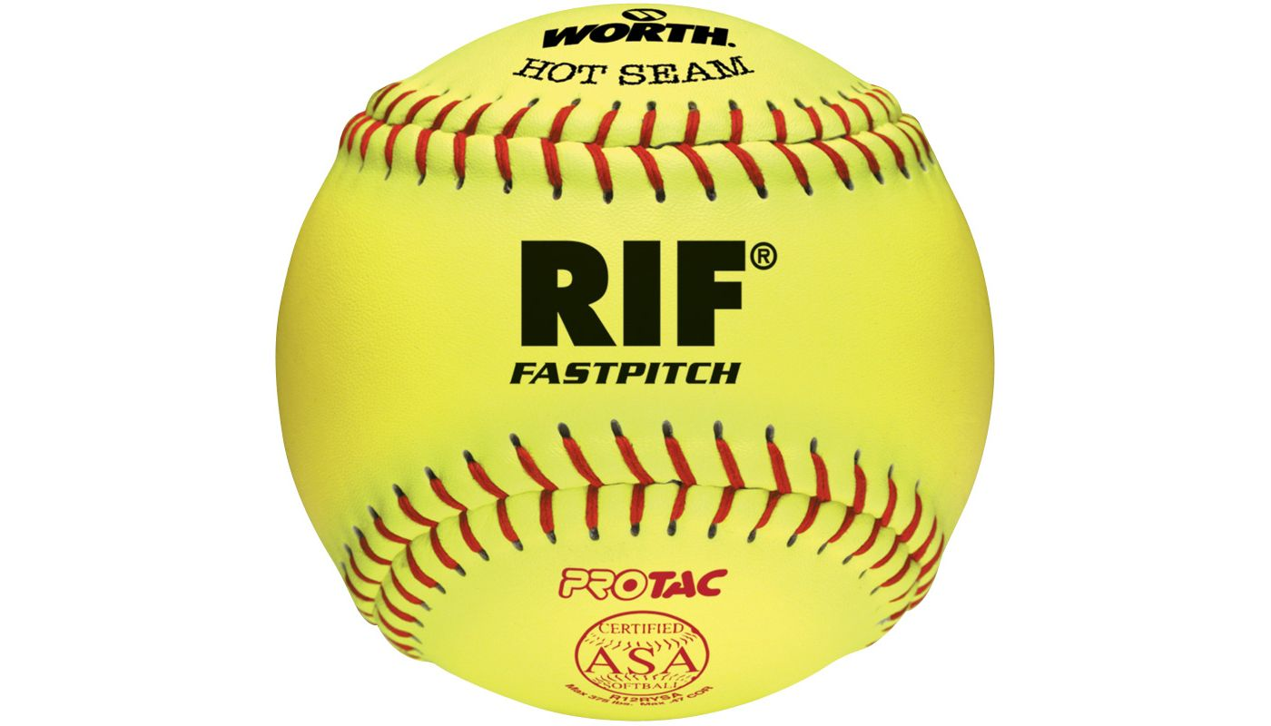 "Worth 12"" ASA Hot Seam RIF Safety Fastpitch Softball"
