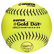 "Worth 12"" NSA Super Gold Dot Slow Pitch Softball"