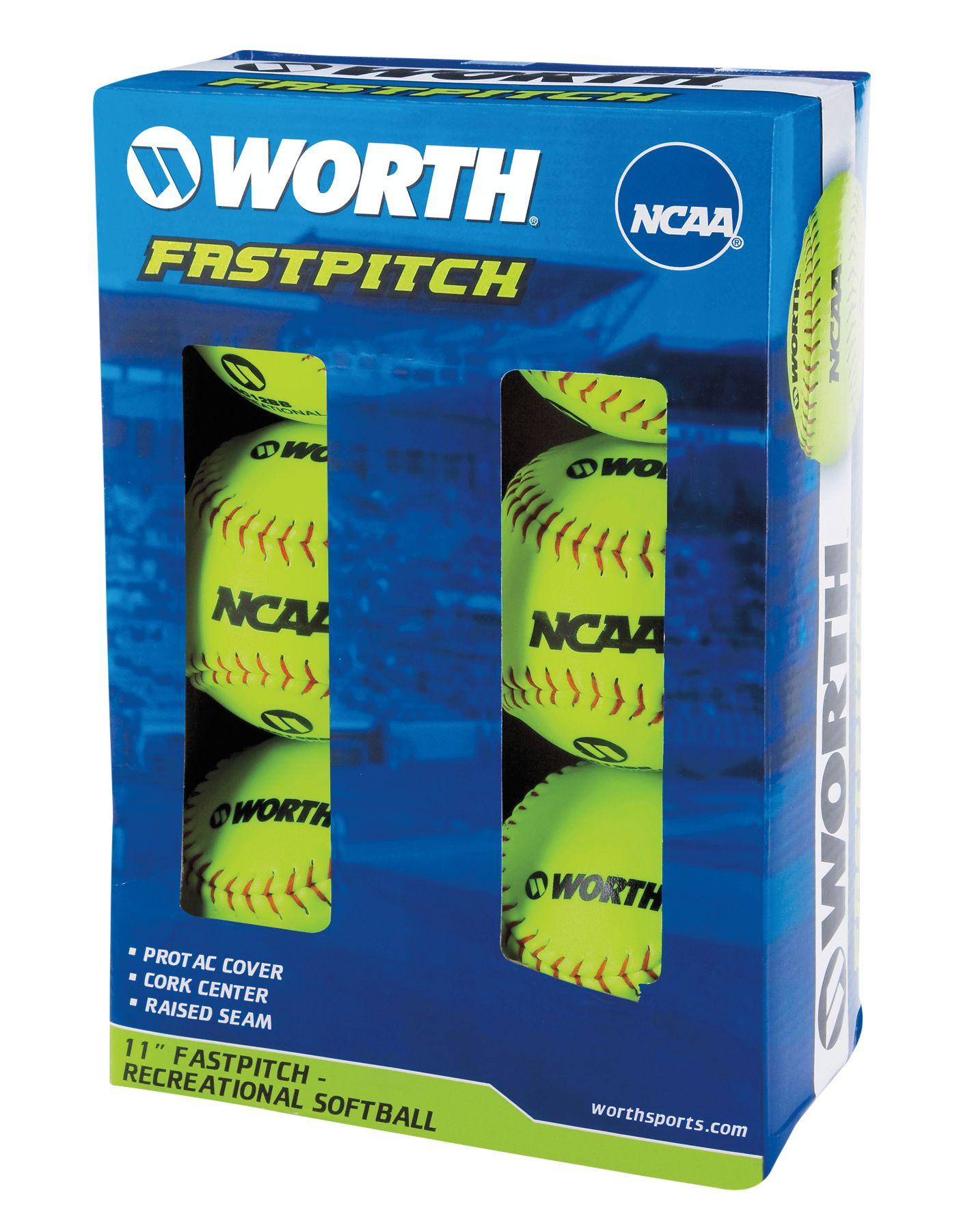 "Rawlings 11"" NCAA Fastpitch Softballs - 6 Pack"