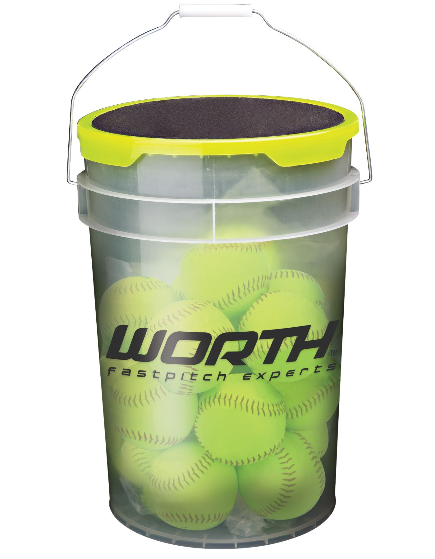 "Worth 12"" Practice Fastpitch Softball Bucket - 12 Pack"