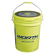 "Worth 12"" FPEX Practice Fastpitch Softball Bucket - 12 Pack"