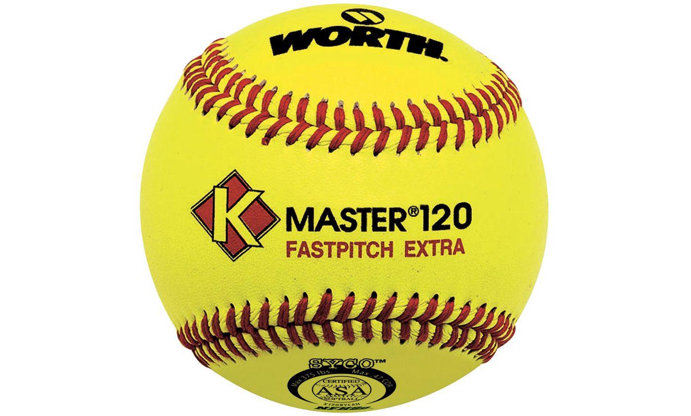 "Worth 12"" ASA K-Master 120 Fastpitch Softball"