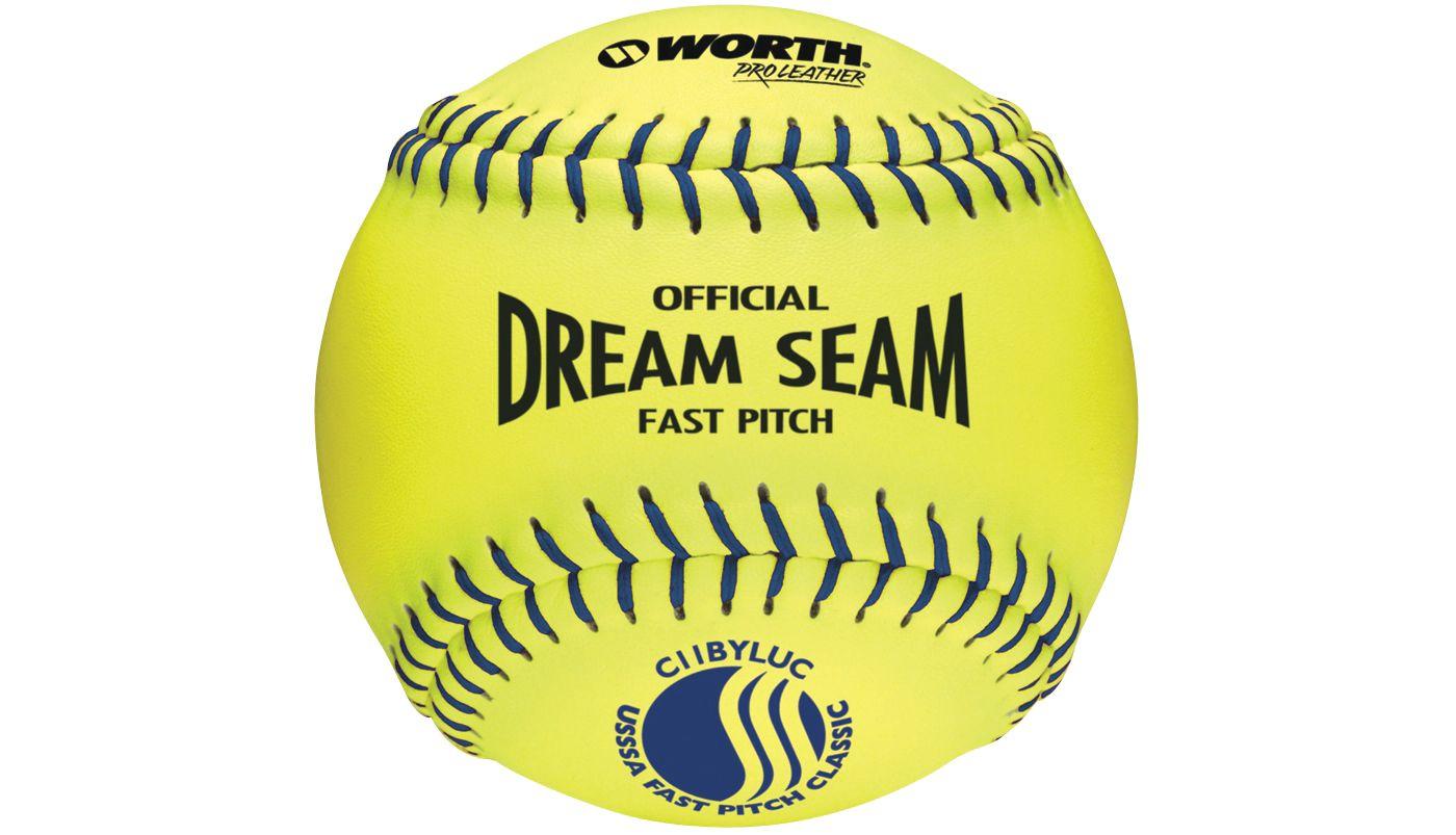 "Worth 11"" USSSA Official Dream Seam Fastpitch Softball"