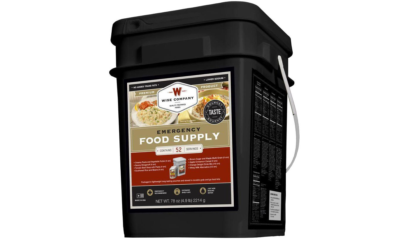 Wise Company 52 Serving Prepper Bucket