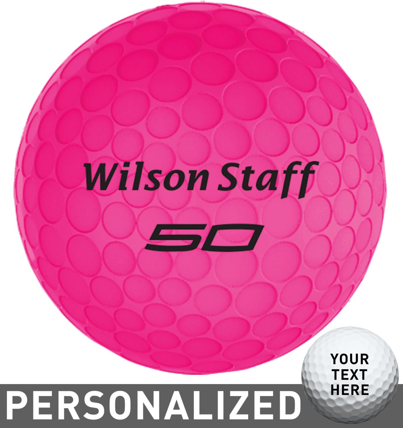 Wilson Staff Fifty Elite Pink Personalized Golf Balls