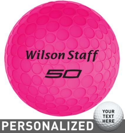 Wilson Staff Fifty Elite Pink Personalized Golf Balls