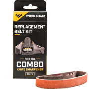 "Work Sharp Combo Knife Sharpener Replacement Belt Kit – P120 ½"" x 10"""