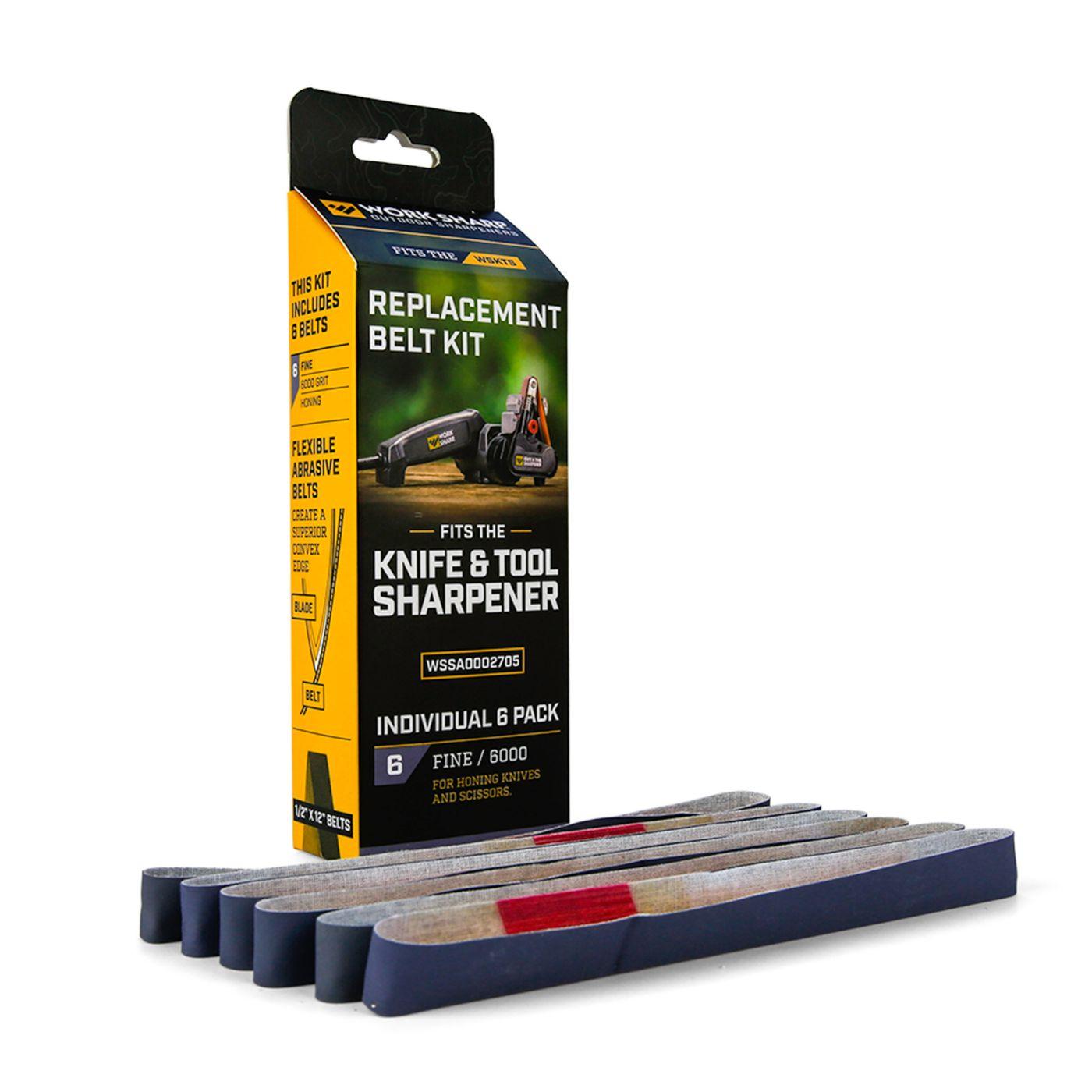 "Work Sharp Knife and Tool Sharpener Replacement Belt Kit – 6000 Extra-Fine Grit Bulk Pack ½"" x 12"""
