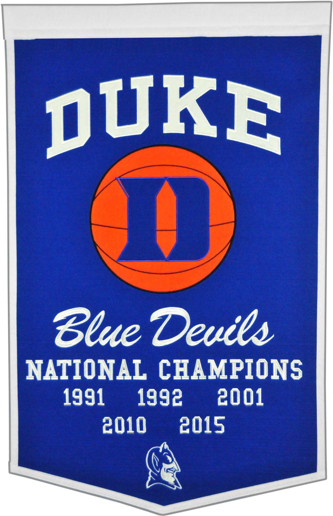 Duke Blue Devils Basketball National Champions Banner
