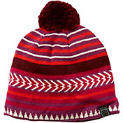 Yaktrax Men's Cozy Tribal Stripe Pom Beanie