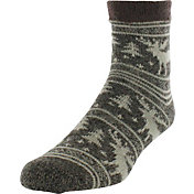 Yaktrax Men's Moose Cozy Cabin Socks