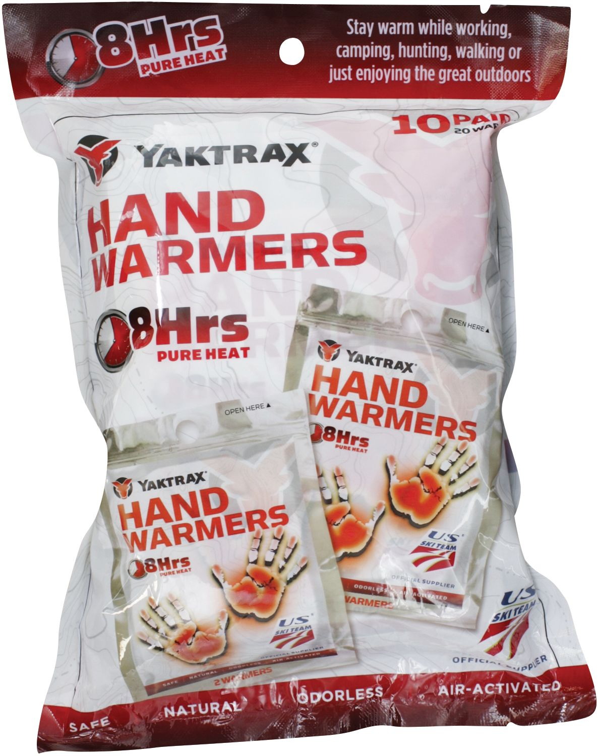 Yaktrax Hand Warmer – 10 Packs, Adult Unisex, Size: One size