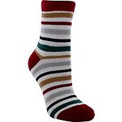 Yaktrax Women's Cozy Cabin Stripe Crew Socks