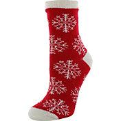 Yaktrax Women's Nordic Snowflake Cozy Cabin Socks
