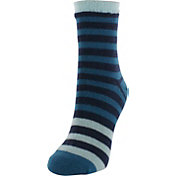 Yaktrax Women's Half Stripe Cozy Cabin Socks