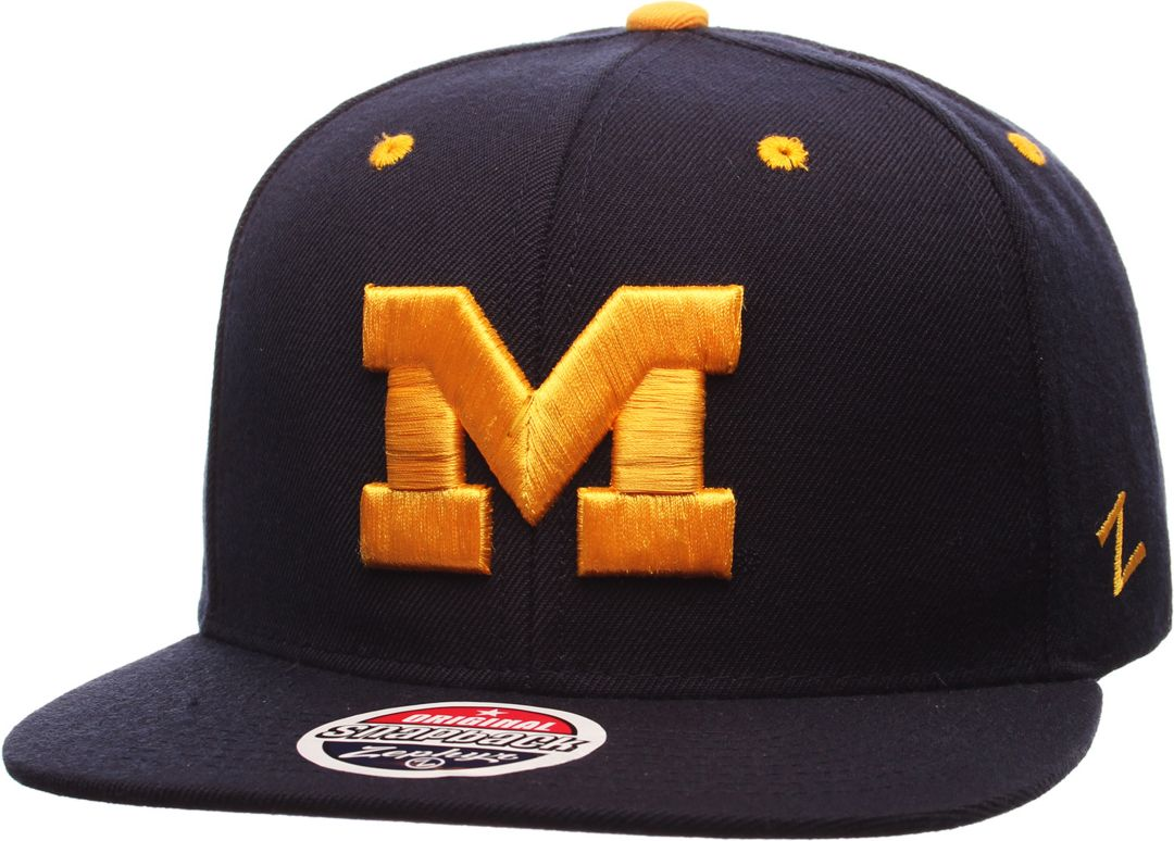 hot sale online c9462 8bcb7 Zephyr Men s Michigan Wolverines Blue Z11 Snapback Hat 1