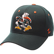 Zephyr Men's Miami Hurricanes Green Competitor Adjustable Hat
