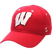 Zephyr Men's Wisconsin Badgers Red Competitor Adjustable Hat