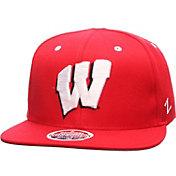 Zephyr Men's Wisconsin Badgers Red Z11 Snapback Hat