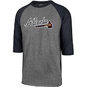 '47 Men's Atlanta Braves Club Three-Quarter Sleeve Shirt