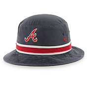 '47 Men's Atlanta Braves Striped Bucket Hat