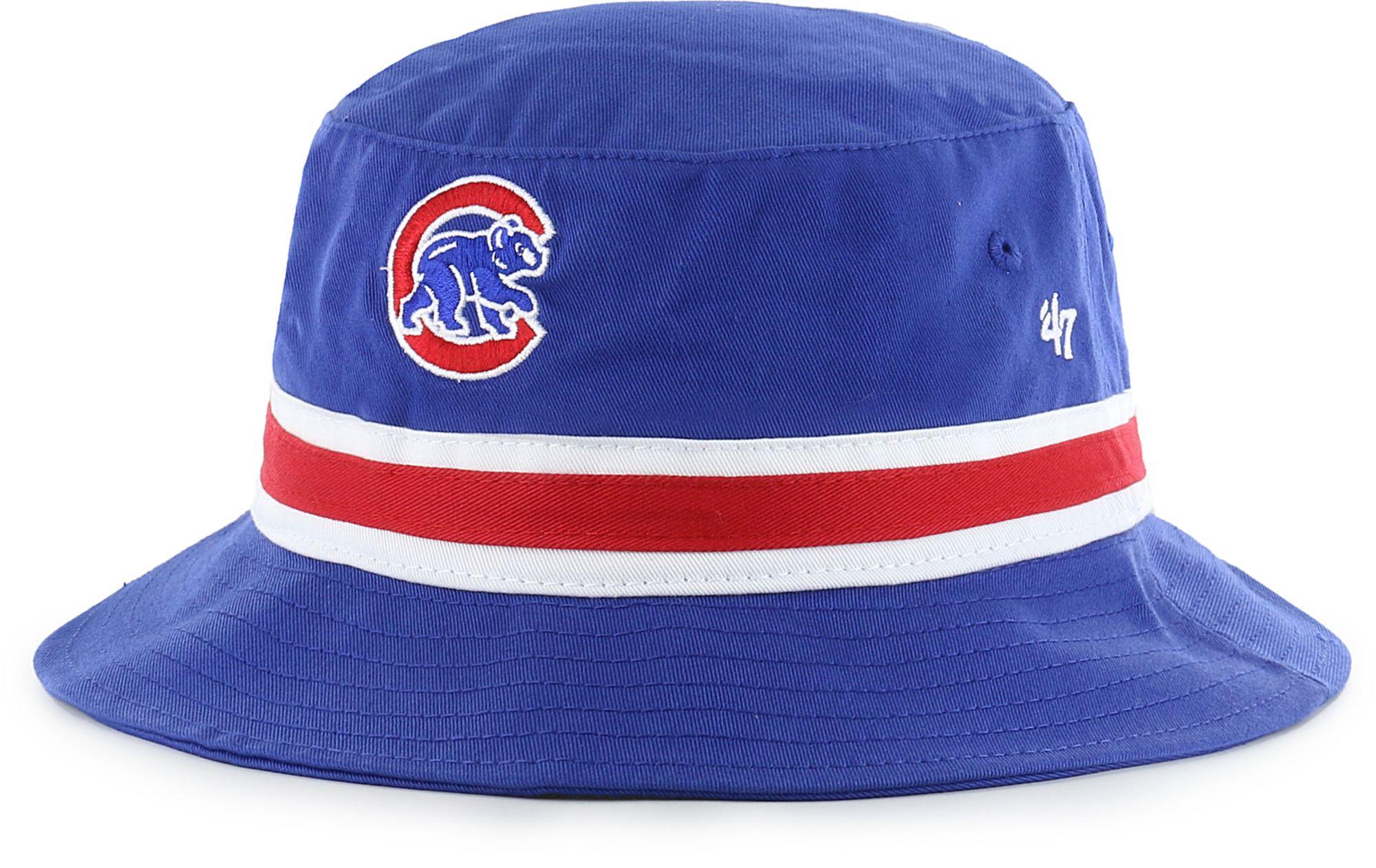 13a1f0b207b ... inexpensive 47 mens chicago cubs striped bucket hat 1ac54 35b4e